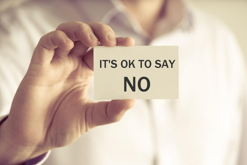 """It's OK to Say """"NO"""""""